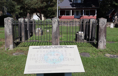 Map of the internments in the cemetery where David Zeisberger is buried.