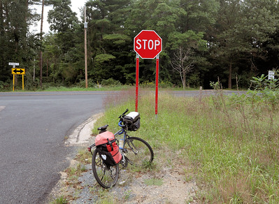Not a particularly good stopping place, but I had reached the ten mile point.