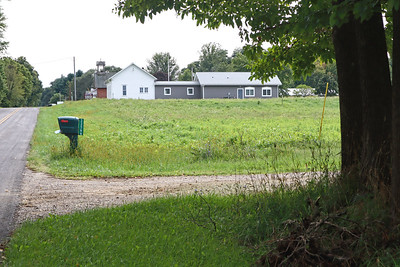 Cluster of buildings, including the township hall, at Arlington Center