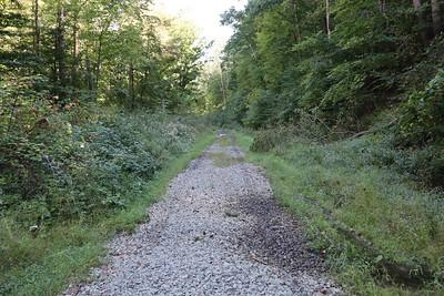 The path north of the Dover Dam