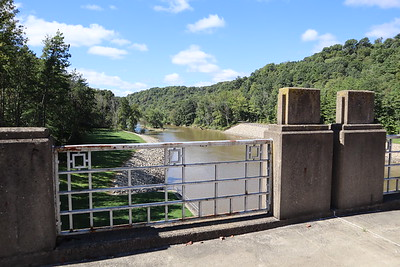 The view downstream from the Dover Dam.