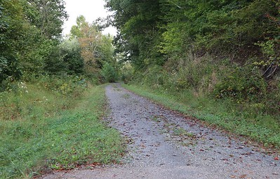 Bicycle route along the Tuscarawas River
