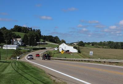 Looking back toward the Goshen Township Office
