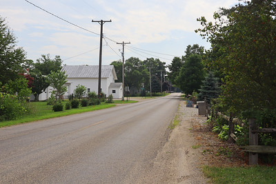 Approaching Woodbridge Township Hall in Frontier