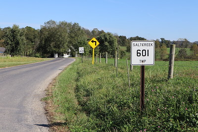 The township road straight ahead follows the Greenville Treaty Line, and is also the border between Salt Creek and Prairie Townships.