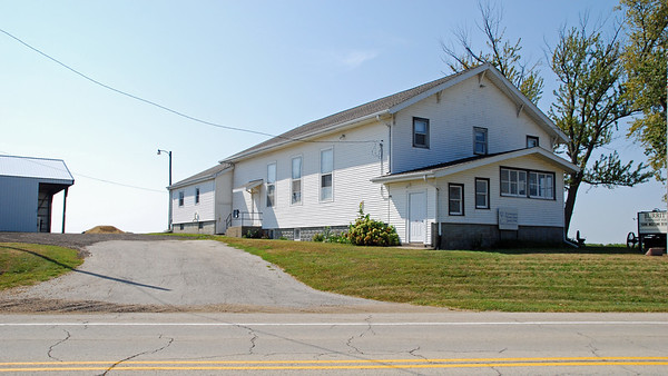 Burritt Township Hall, as seen from state highway 70