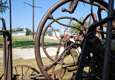 Road Grader at Burritt Township Hall