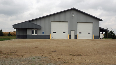 Mantorville Town Hall garage doors