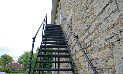 Wasioja school/town hall fire stairs