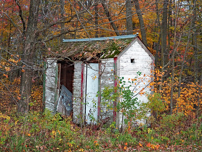 Leaf River Town Hall outhouse