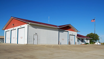 """The sign on the entrance says """"Wilson Township Fire Department and Community Hall."""""""