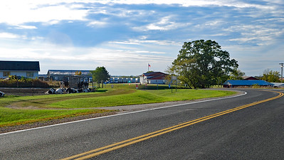 Approaching Wilson, Minnesota, and the Wilson Town Hall from the east.