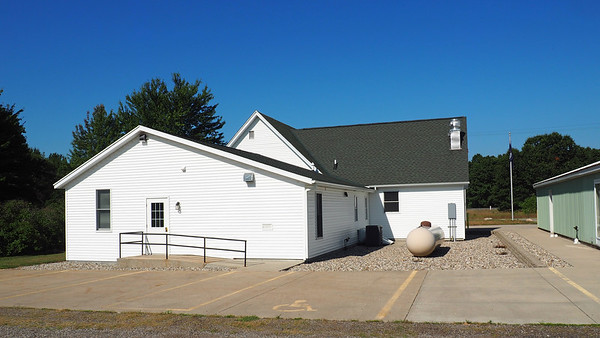 Behind the Clyde Township Hall