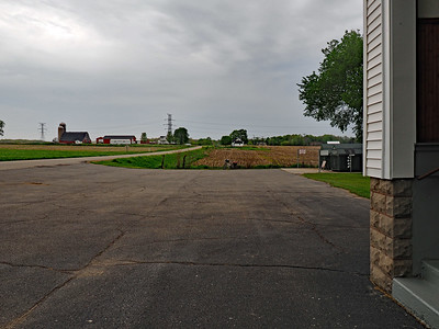 Looking west from the Overisel Township Hall
