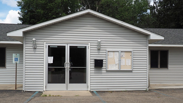 Entrance to Trowbridge Township Hall