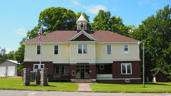 The Skanee Town Hall is the meeting place for Arvon Township.