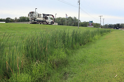 Ditch along M-140 in front of Watervliet Township Hall