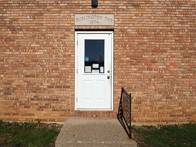 Burlington Township Hall entrance