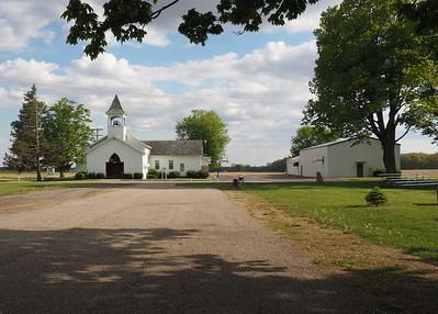 Church across the street from Newberg Township Hall