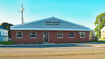 The Wright-Waldron Municipal Building in Waldron serves as the townshiphall for Wright Township.