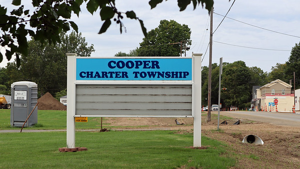 Roadwork at the Cooper Township Hall
