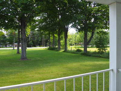 Looking out from the porch of Hiawatha Township Hall