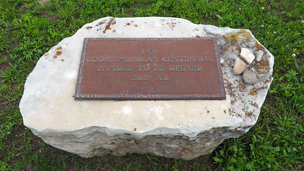 Time capsule on the grounds of the Inwood Township Town Hall