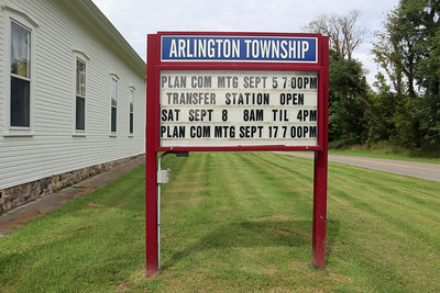 Arlington Township Hall - Signboard