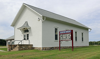 The older part of the Arlington Township Hall