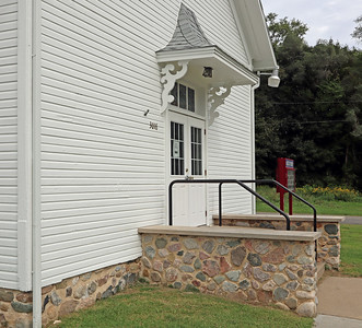 Arlington Township Hall - Entrance to the older building.