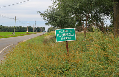 Looking back north at the south border of Bloomingdale Twp on CR 665.