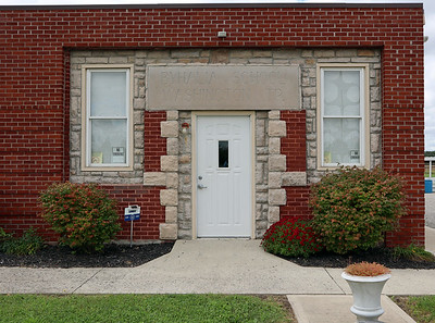 Entrance to the Washington Township Hall in Byhalia OH.