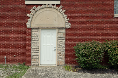 Door to the gym at the Washington Township Hall. Whether there is still a gym behind that door is unknown to me.