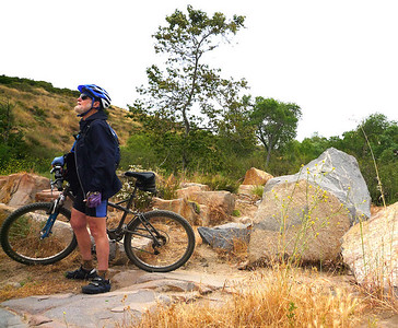 Carl near bridge below dam Mission Trails 110508 P2050425