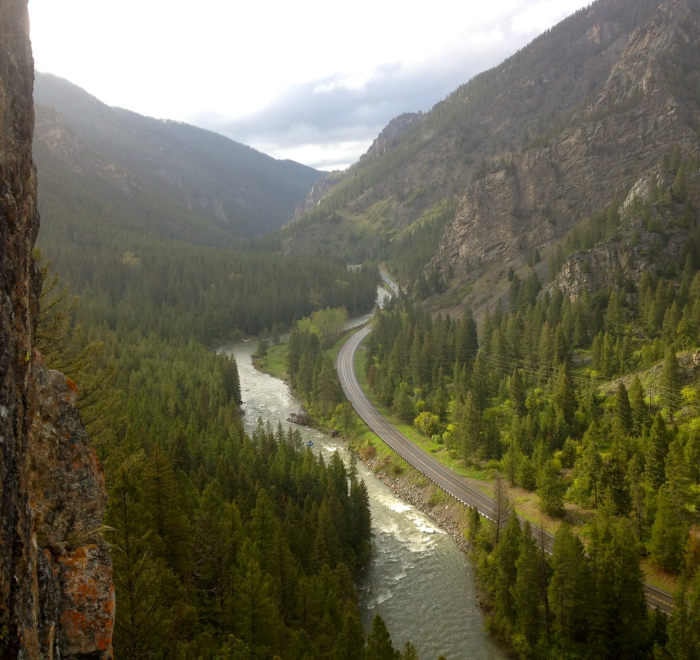 """View from the top! The Gallatin River as seen by Emily Wolfe in the Gallatin Canyon. Adventurers and Scientists for Conservation is expanding its Microplastics project to freshwater, beginning at home in the Greater Gallatin Watershed. They're starting local, but the project is global. Learn how you can get involved: <a href=""""http://www.adventurescience.org/microplastics.html"""">http://www.adventurescience.org/microplastics.html</a>"""