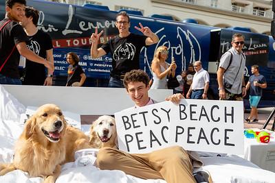2018_11_03, Beach, Beach Bed In, Bed In, Bed In on the Beach, Come Together, Come Together Miami, FL, Florida, Miami, Miami Beach, The Betsy, The Betsy Hotel, Dog, Brian Rothschild, Bus, Exterior, Matt Reich, OWC