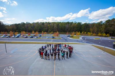 2017_10_23, Atlanta, GA, McNair Middle School, Peace Sign