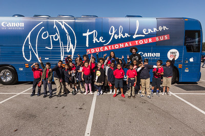 2017_10_30, FL, Kissimmee, Renaissance Charter School, Students, bus exterior, tents and tours, Gabe Smith, Canon, Apple,
