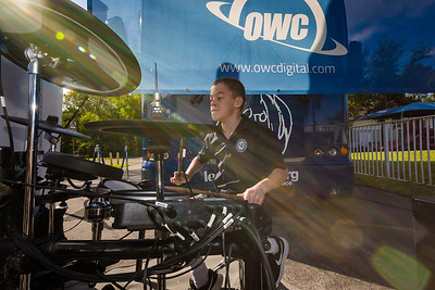 2017_11_06, FL, Ft. Lauderdale, tents and tours, bus exterior, Students, drums, OWC,