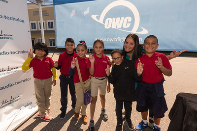 2017_10_30, FL, Kissimmee, Renaissance Charter School, Students, peace signs, OWC, audio technica,