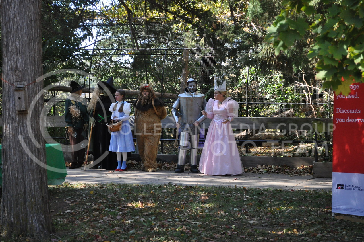 Glinda, Dorothy, Toto, the Cowardly Lion, Scarecrow, Tin Man and the Witch of the West wait to pass candy out to children during the Spooktacular at Sunset Zoo the afternoon of Oct. 28, 2017. The event was held Oct. 28 and 29 from noon to 4 p.m. at the Sunset Zoo.