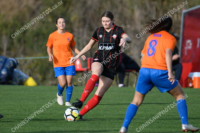 22 June 2019 Western Suburbs v Wellington United Ultra Football W-League football / soccer Endeavour Park, Porirua
