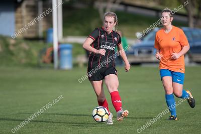 22 June 2019 Western Suburbs v Wellington United Ultra Football W-League football / soccer Endeavour Park, Porirua