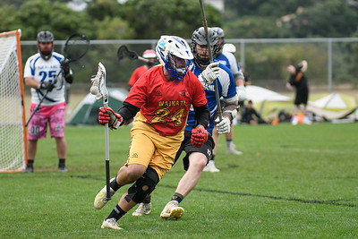 NZ Men's National Lacrosse tournament at Martin Luckie Park, Wellington. Auckland v Waikato