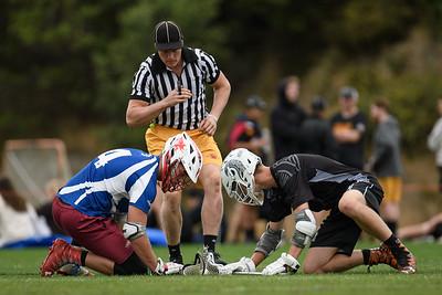 NZ Men's National Lacrosse tournament at Martin Luckie Park, Wellington. Presidents v Auckland.