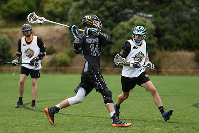 NZ Men's National Lacrosse tournament at Martin Luckie Park, Wellington. Presidents v Wellington