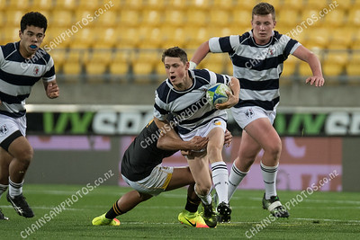 20 May 2017 Wellington College v Palmerston North Boys High at Westpac Stadium, Wellington. More photos at www.chainsawphotos.co.nz