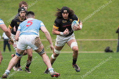 20 August 2017 St Patricks College (Silverstream) v Wellington College, Weltec Premiership final at Jerry Collins Stadium, Porirua Park. More photos at www.chainsawphotos.co.nz