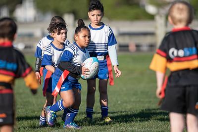 Under 6 Rippa Rugby Paremata Plimmerton Tiger Sharks v Northern United Bulldogs Blue Ngati Toa Domain, Porirua