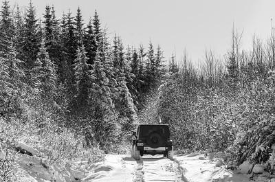 Driving away...